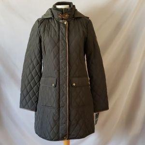 Ralph Lauren Faux Leather Buckle Snap Button Jacke